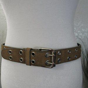 Tan Leather Buckle Belt Sz S/M Boho Festival